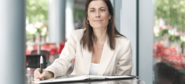 photo of a women at a desk